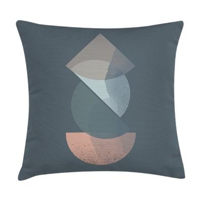 """TAK Design Sierkussen """"Royd River Blue"""" 45 x 45 cm - Blauw"""