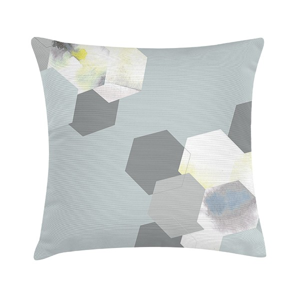 "TAK Design Sierkussen ""Impala Pastel Mint"" 45 x 45 cm - Hexagon Patroon TD016167"