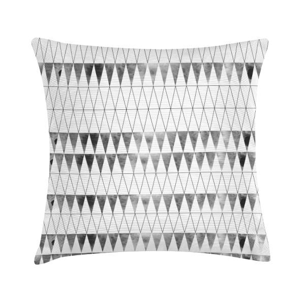"""TAK Design Sierkussen """"Drizzle"""" 45 x 45 cm - Grijs / Wit TD016204"""
