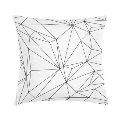 """Sierkussen """"White Geomatric"""" 45 x 45 cm - Wit"""