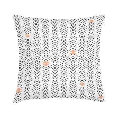 """TAK Design Sierkussen """"Little Arrows"""" 45 x 45 cm - Wit / Grijs en Roze"""