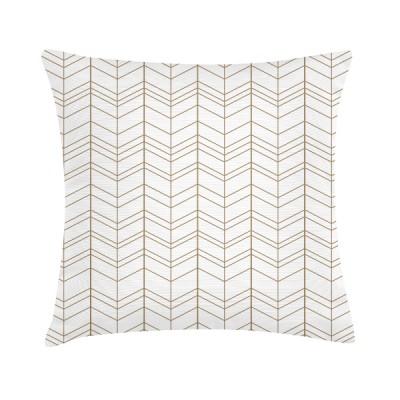 """Sierkussen """"Light Brown Pattern"""" 45 x 45 cm Grafisch Patroon"""