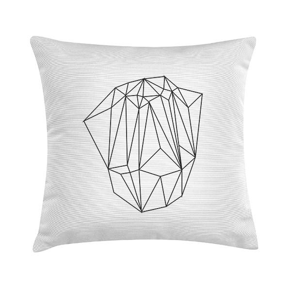 """Sierkussen """"White Crystal"""" 45 x 45 cm - Wit TD016242"""