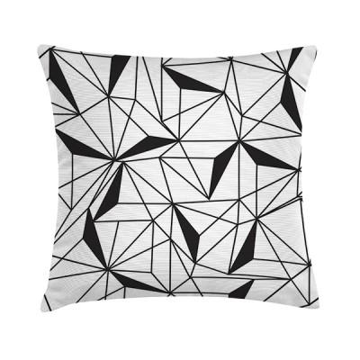 """TAK Design Sierkussen """"New B&W Geomatric"""" 45 x 45 cm - Zwart / Wit"""