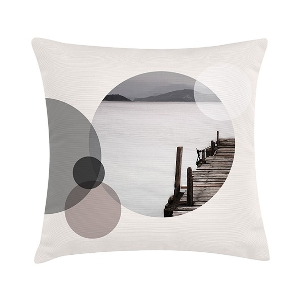 "Sierkussen ""Bridge In Circle"" 45 x 45 cm - Ecru TD016297"