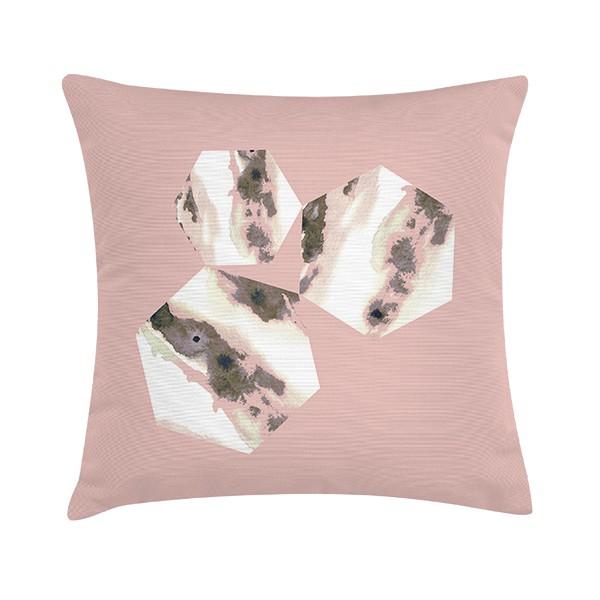 "Sierkussen ""Cassia Rhubarb Custard"" 45 x 45 cm - Roze TD016310"