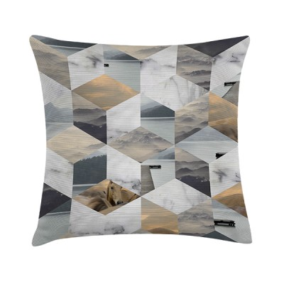 """Sierkussen """"Collage Cube"""" 45 x 45 cm Grafisch Patroon"""